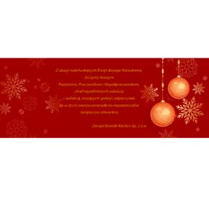 Życzenia świąteczne - Centrum Medyczne Grande Medica